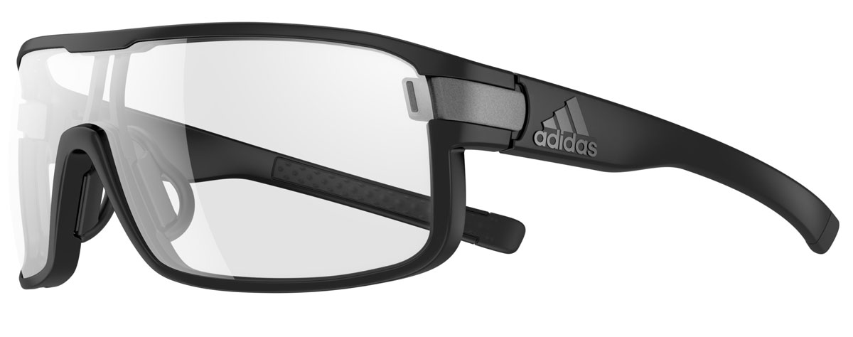 adidas Performance Sportbrille / Sonnenbrille Tycane S - Matt Black/Darkgrey/LST Active Silver, dunkelgrau, Gr. S